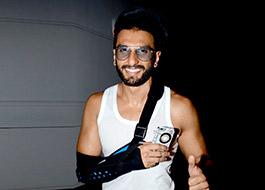 Ranveer Singh suffers ligament tear on sets of Bajirao Mastani