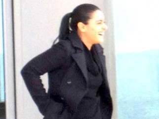 On The Sets Of The Film My Name is Khan Featuring Kajol