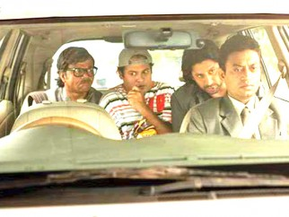 Movie Still From The Film Krazzy 4,Rajpal Yadav,Suresh Menon,Arshad Warsi,Irrfan Khan
