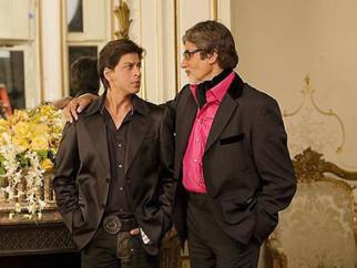 Movie Still From The Film Kabhi Alvida Naa Kehna,Shahrukh Khan,Amitabh Bachchan