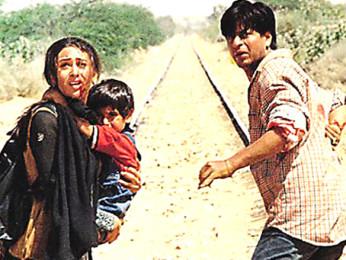 Movie Still From The Film Shakti - The Power Featuring Shahrukh Khan,Karisma Kapoor