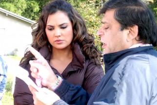 On The Sets Of The Film Banda Yeh Bindaas Hai Featuring Lara Dutta,Ravi Chopra