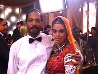 On The Sets Of The Film Welcome Featuring Mallika Sherawat,Nana Patekar