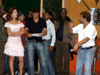 On The Sets Of The Film Welcome Featuring Akshay Kumar,Katrina Kaif