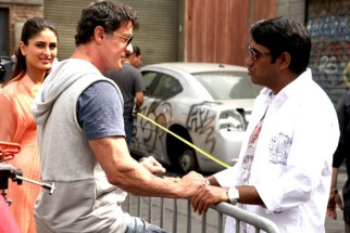 On The Sets Of The Film Kambakkht Ishq Featuring Sylvester Stallone,Kareena Kapoor