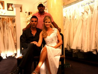 On The Sets Of The Film Kambakkht Ishq Featuring Akshay Kumar,Denise Richards