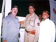 On The Sets Of The Film Khakee Featuring Amitabh Bachchan