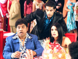Movie Still From The Film 36 China Town,Johny Lever,Upen Patel,Tanaz Currim