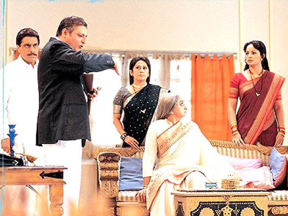 Movie Still From The Film Hulchul Featuring Laxmi,Deep Dhillon,Manoj Joshi