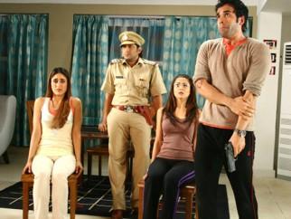 Movie Still From The Film Golmaal Returns,Kareena Kapoor,Arshad Warsi,Tusshar Kapoor