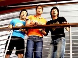 Movie Still From The Film Golmaal Returns,Tusshar Kapoor,Ajay Devgn,Shreyas Talpade