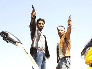 Movie Still From The Film Dhoom 2,Abhishek Bachchan,Uday Chopra