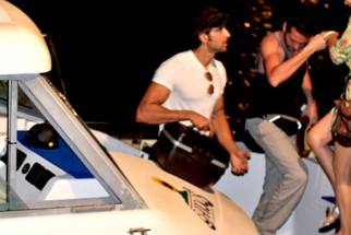 On The Sets Of The Film Kites Featuring Hrithik Roshan