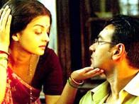 Movie Still From The Film Raincoat Featuring Ajay Devgan,Aishwarya Rai