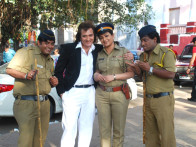 On The Sets Of The Film Tension Mat Le Yaar,Avinash Wadhawan,Upasna Singh,Sunil Pal