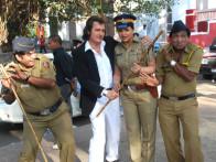 On The Sets Of The Film Tension Mat Le Yaar,Avinash Wadhawan,Upasna Singh,Sunil Pal