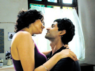 Movie Still From The Film Fatso,Gul Panag,Purab Kohli