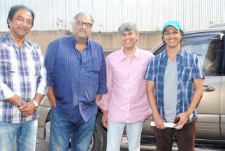 Photo Of Nikhil Saini,Boney Kapoor,Premnath,Milind Kavde From The Anu Malik sang Marathi song for 'No Entry Pudhe Dhoka Aaahey'