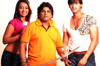 On The Sets Of The Film Qayamat Hi Qayamat Featuring Ester Noronha,Prakash Sagar,Vicky Ranawat