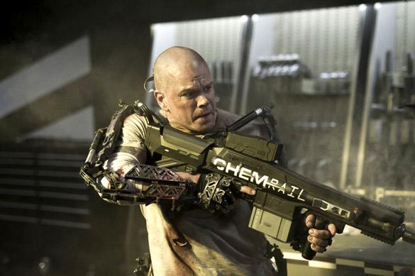 Movie Still From The Film Elysium,Matt Damon