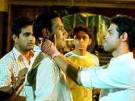 Movie Still From The Film Shuttlecock Boys,Aakar Kaushik,Vijay Prateek,Alok Kumar,Manish Nawani