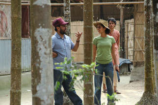 On The Sets Of The Film Chittagong,Bedabrata Pain,Vega Tamotia