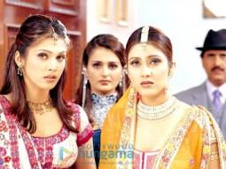 Movie Still From The Film Pyaar Ishq Aur Mohabbat Featuring Isha Koppikar,Monica Bedi