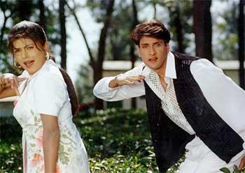 Movie Still From The Film Baaghi FeaturingInder Kumar,Shalini Kapoor
