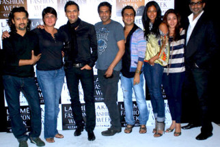 Photo Of Marc Robinson,Rocky S,Akki Narula,Nina Manuel From The Celeb judges and models at LFW model auditions 2010