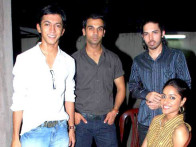 Photo Of Anshuman Jha,Raj Kumar Yadav,Herry Tangri,Neha Chauhan From Special screening of Love Sex Aur Dhokha for media