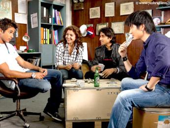 Movie Still From The Film Badmaash Company,Vir Das,Anushka Sharma,Meiyang Chang,Shahid Kapoor