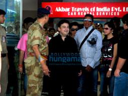 Photo Of Adnan Sami,Jermaine Jackson From Adnan Sami receives Jermaine Jackson on his arrival in Mumbai