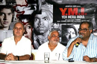 Photo Of Anupam Kher,N Chandra,Boney Kapoor From 'Yeh Mera India' media meet
