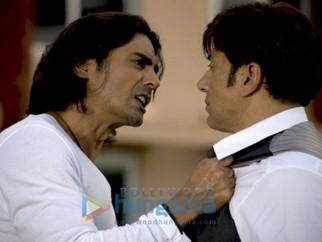 Movie Still From The Film Fox Featuring Arjun Rampal,Sunny Deol