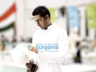 Movie Still From The Film Paa Featuring Abhishek Bachchan