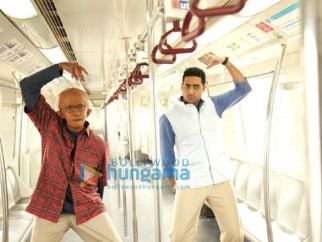 Movie Still From The Film Paa Featuring Amitabh Bachchan,Abhishek Bachchan