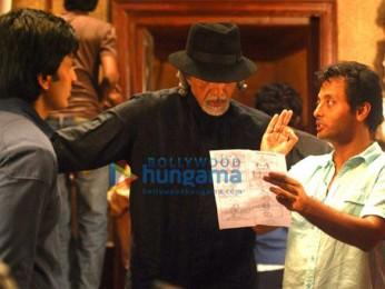 On The Sets Of The Fillim of Aladin Featuring,Sujoy Ghosh,Amitabh Bachchan,Ritesh Deshmukh