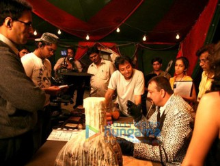 On The Sets Of The Fillim of Aladin Featuring,Sujoy Ghosh,Sanjay Dutt