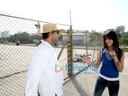 On The Sets Of The Fillim of Chance Pe Dance Featuring,Genelia Dsouza
