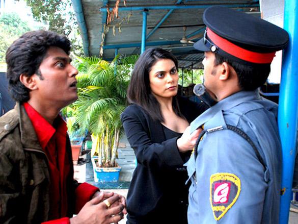 Movie Still From The Film Vroom,Naveen Prabhakar,Delna Modi