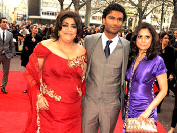 Photo Of Gurindher Chadha,Sendhil Ramamurthy,Goldy Notay From The Premiere of It's a Wonderful After Life in U.K.