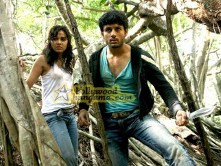 Movie Still From The Film Agyaat Featuring Nitin Reddy,Priyanka Kothari