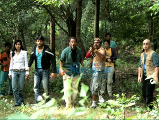 Movie Still From The Film Agyaat Featuring Nitin Reddy,Priyanka Kothari,Rasika Duggal,Kali Prasad Mukherjee,Gautam Rode