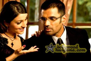 Movie Still From The Film Daddy Cool Featuring Aarti Chhabria,Sunil Shetty