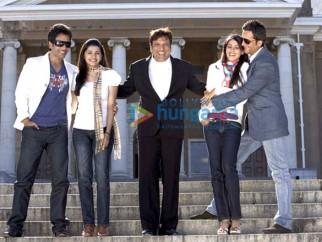 Movie Still From The Film Life Partner Featuring Tusshar Kapoor,Fardeen Khan,Govinda,Genelia D'souza,Prachi Desai