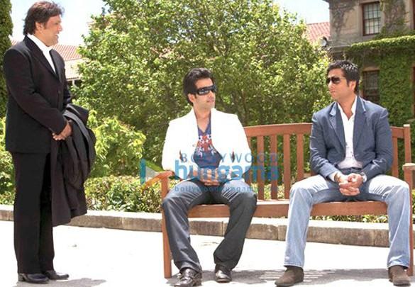 Movie Still From The Film Life Partner Featuring Tusshar Kapoor,Fardeen Khan,Govinda