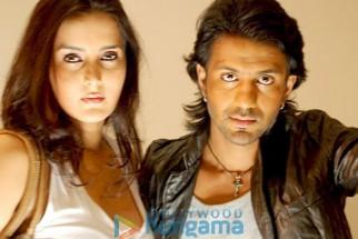 Movie Still From The Film Runway Featuring Tulip Joshi,Amarjeet Shukla