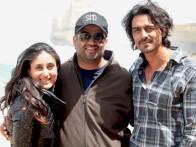 On The Sets Of The Film We Are Family Featuring Arjun Rampal,Kajol,Kareena Kapoor,Aanchal Munjal,Nominath Ginsburg,Diya Sonecha