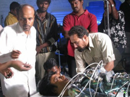 On The Sets Of The Film Enthiram Featuring Rajinikanth,Aishwarya Rai