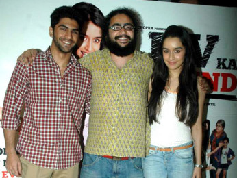Photo Of Taaha Shah,Bumpy,Shraddha Kapoor From The Shraddha Kapoor promotes 'Luv Ka The End' film